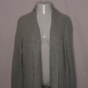 Ann Taylor Open Front Cardigan Size Large Gray